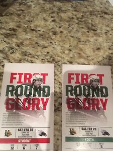 Mooseheads lower bowl tickets Saturday February 23rd