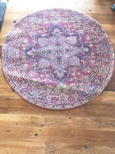 5 f5' Persian Turkish traditional style pink area rug