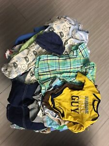 Lot de 20 mcx vêtements garçon 3 mois.