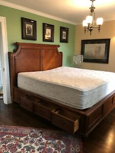 King Captains Bed with 6 Drawers