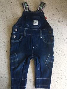 Brand new boys 000 sprout denim overalls