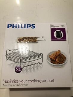 Phillips Airfryer XLDouble Layer accessory with skewers