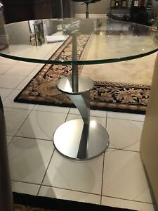 Italian glass side table
