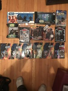 Huge packaged Star Wars figures lot
