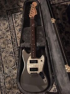 Fender mustang P90 in ghost silver