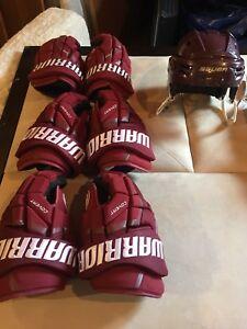 Bauer Hockey Helmet and Warrior Gloves