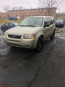 2003 ford escape xlt MVI until 2019 needs work! NEW TIRES