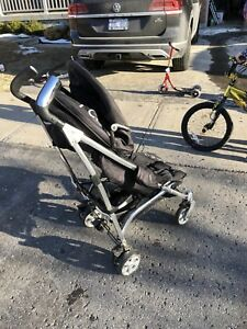 Icoo stroller, aluminum with black fabric