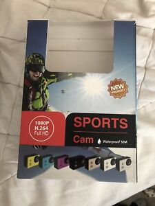 Sports camera, waterproof case, perfect for car or bike