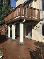 Fence/deck repair,  staining/painting. Free quotes