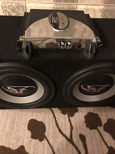 """^** 2 10""""'ROCKFORD FOSGATE SUBS IN BOX WITH MTX MONO AMP!!"""