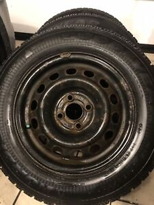 Winter tires with rims.
