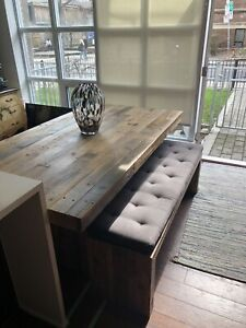 West Elm Dining Table and Benches