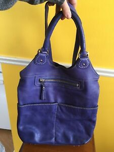 EUC Roots Lauren Large Purse Bag All Leather