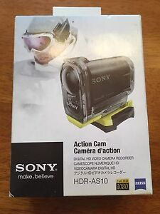 Sony HDR-AS10 Action Sports Cam Digital HD Video - Brand New