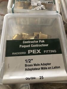 1/2 inch pex male adapters