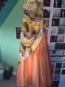 Yellow formal or prom dress