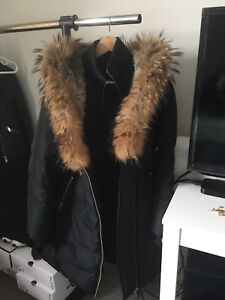 Mackage Trish Mid Length Winter Down Coat with Fur