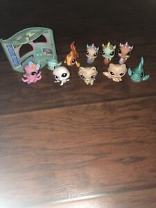 LPS Under The Sea Figures and Racoons.