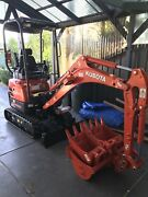 Kubota mini excavator with steel trailer Werribee Wyndham Area Preview
