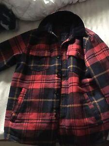 American eagle plaid light jacket