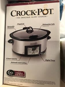 Crockpot 6qt oval for sale