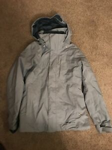 Light blue ski Patagonia jacket