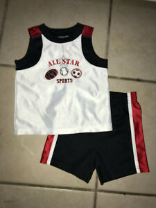 12M All Stars 2-piece outfit of shorts and tank top