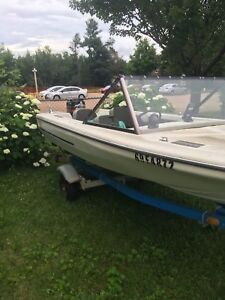 Boat ,trailer and motor