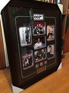 James Bond Posters, Framed Photos + Martini Shaker