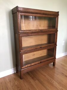 Antique Solid Oak Stacking Barrister Bookcase