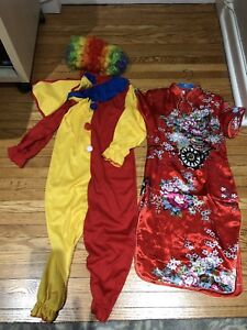 Clown Costume and Chinese-style Costume for Kids