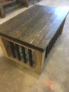 """Solid wood and 1""""steel pet crate furniture"""