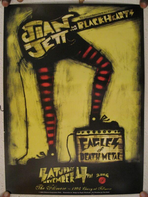 Joan Jett And The Blackhearts Poster Fillmore San Francisco CA November 4 2006 &
