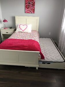 Beautiful near new girls bedroom suite with trundle