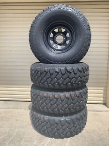 Set of 4 brand new 315/75R16 muds on 16x8 black steel wheels Caboolture Caboolture Area Preview