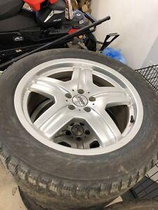 Tires and rims off Audi SQ5  255/50R19