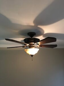 Hunter ceiling fan and matching light fixtures