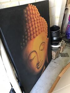 LARGE BALI PAINTING ON FRAME Cloverdale Belmont Area Preview