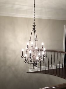 Staircase chandelier 12 light