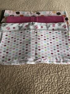 Baby girl blanket / towel lot