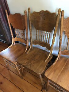 Hardwood Dinning room chairs