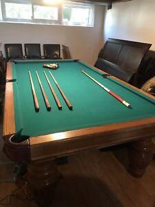 $700 OBO  custom built pool table