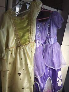 Disney princess dresses SOFIA AND AMBER size 7/8