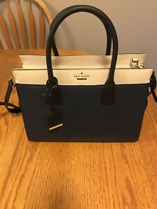 New Kate Spade Navy and tan purse