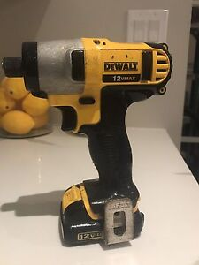 Dewalt 12v max impact with battery