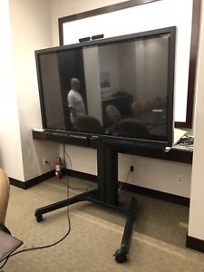 Teleconferencing system set up included
