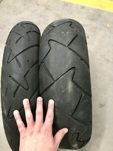Front and Rear Motorcycle Tires