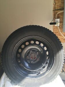 LIKE NEW winter tires and steel rims!