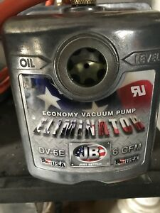 Deep Vacuum pump 2stage 6 CFM new (HVAC) degassing chamber